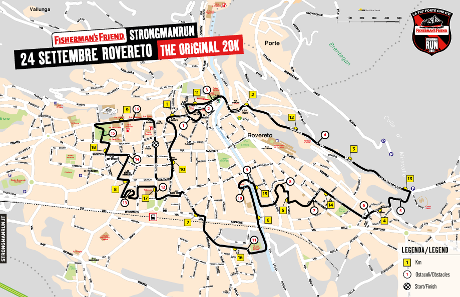 Percorso Strongmanrun Rovereto 2016