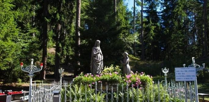 Percorso del Santuario della Madonna di Piné