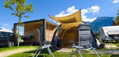 Family camping village sul lago di levico vicino caldonazzo - Camping bagno privato ...